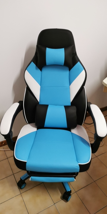 Chaise gaming avec dossier ergonomique et confort optimal