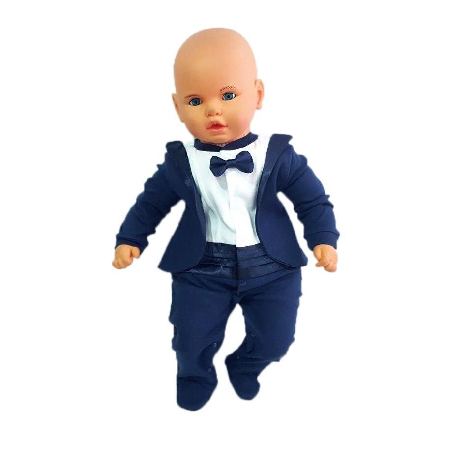 Papyonlu Tuxedo Jacket Baby Jumpsuit