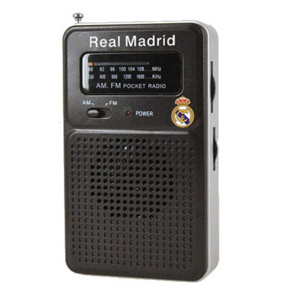 Transistor Radio Real Madrid C.F. Negro