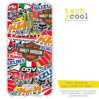 FunnyTech®아이폰 11 l 로고 브랜드 오토바이에 대 한 실리콘 케이스