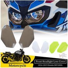 купить Motorcycle Front Headlight Screen Guard Lens Cover Shield Protector for Honda CRF1000L Africa Twin CRF 1000L 2016 2017 2018 2019 дешево