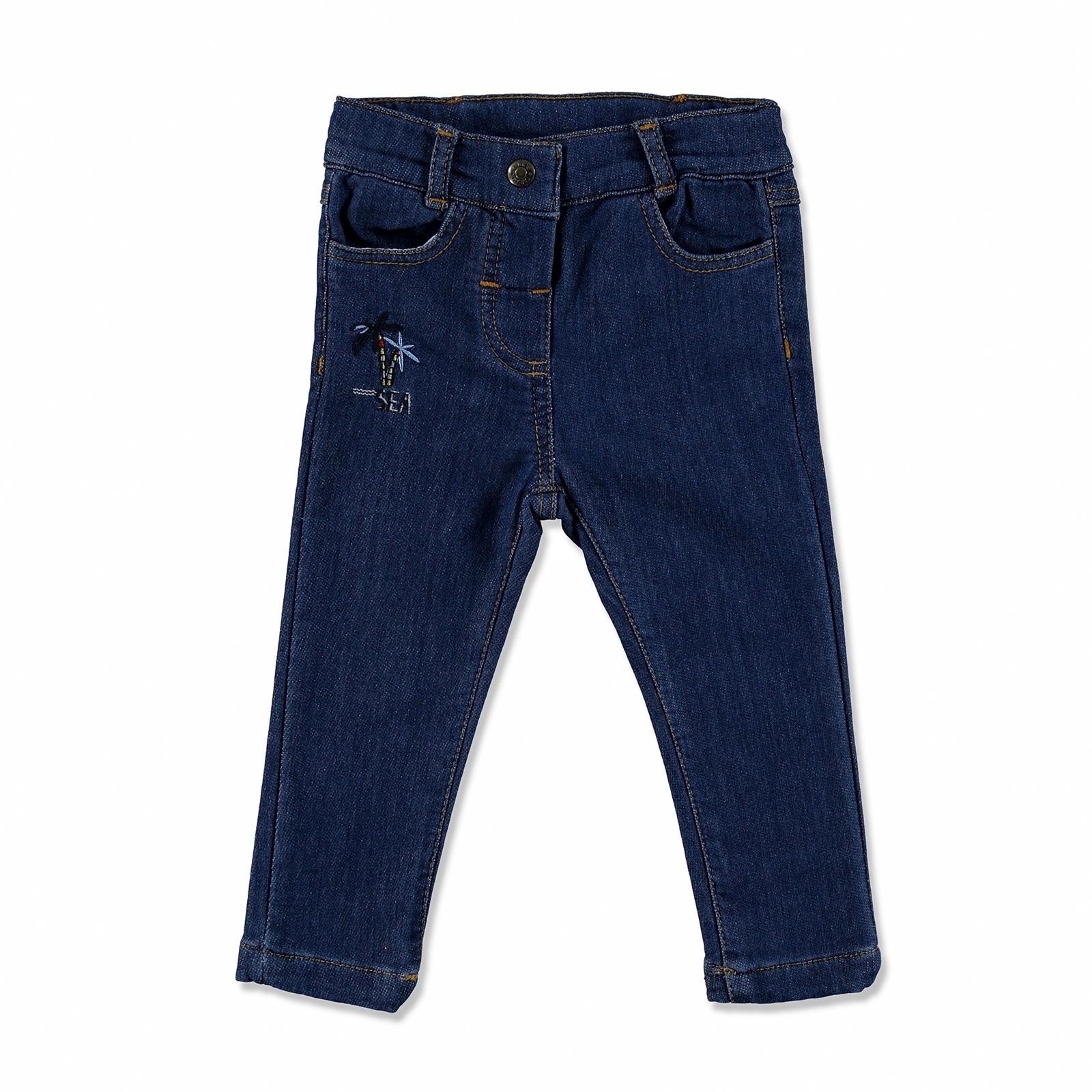 Ebebek Overdo Embroidered Cotton Baby Pants