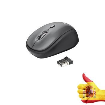 Mini Ratón Óptico 2,4 GHz 1600 DPI Mouse Sin cables Receptor USB PC Inalámbrico TRUST RATÓN YVI. INALÁMBRICO. ÓPTICO. 800-1600 D