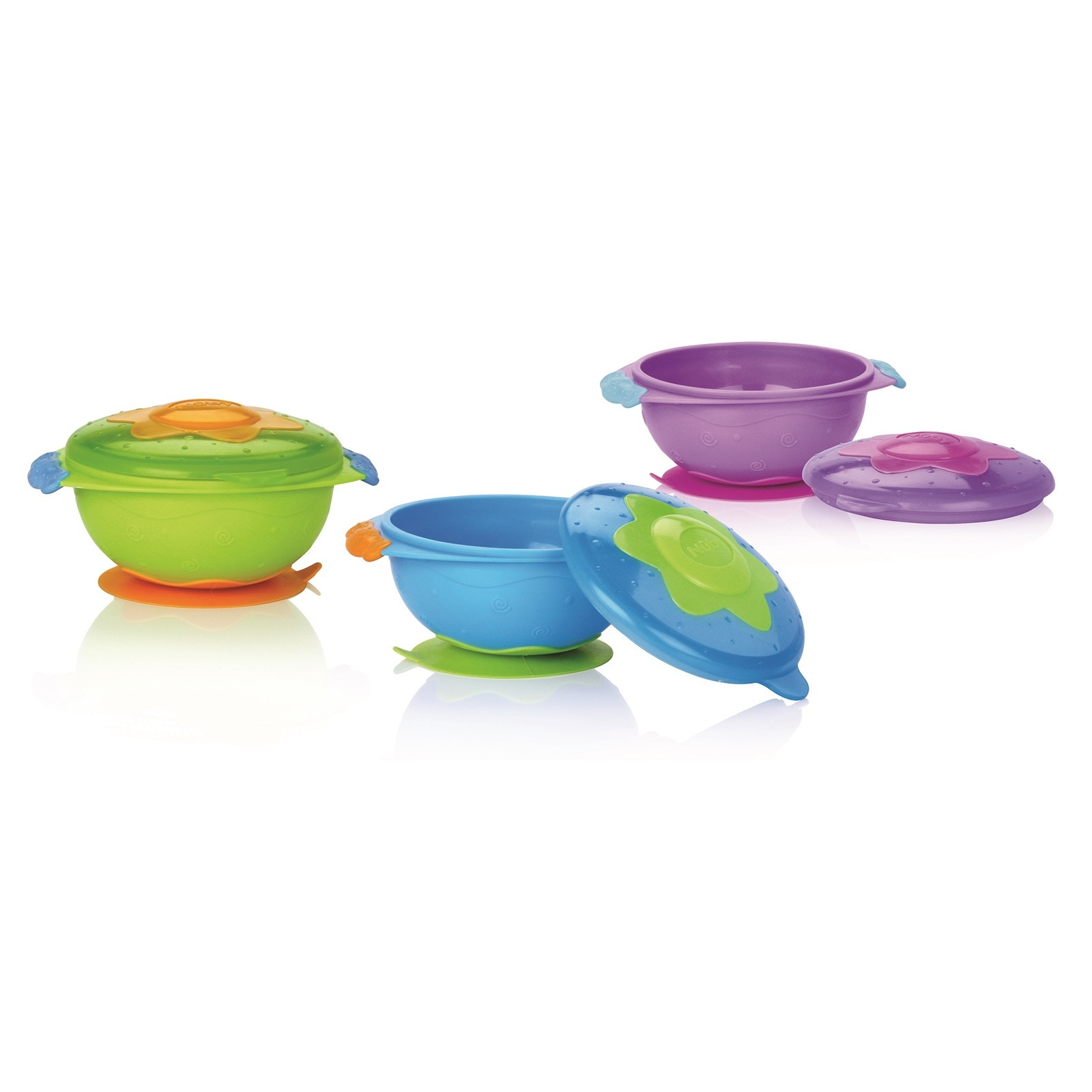 Ebebek Nuby 5322 Bowl With Vacuum Cover 300 Ml 9 Months+