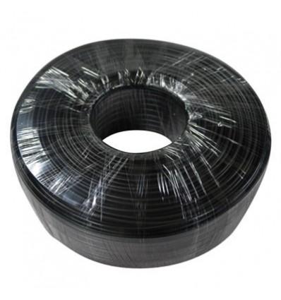 Roll 100m Siamese Cord RG59 + 2x0.77 PVC CCA BLACK (75-3) PFM941