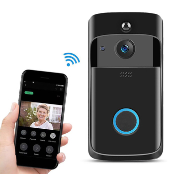 Video Doorbell, WiFi Smart Wireless Intercom Doorbell, Security Home Camera Real-Time Video and Two-Way Talk, Night Vision m3 wireless video doorbell wifi remote intercom detection electronic home security hd visible monitor night vision doorphone