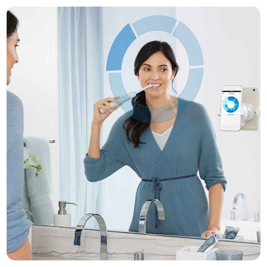Oral B Genius 10200W, rechargeable electric toothbrush, charge indicator, up to 14 days, 4 brushed modes, 2 heads-4
