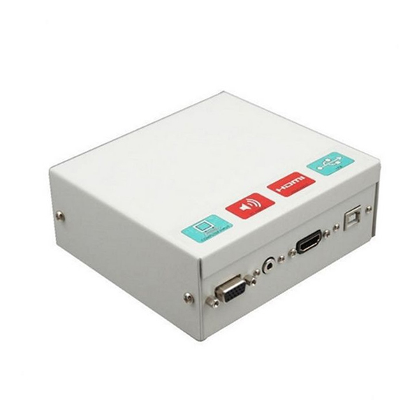Connection Box For An Interactive Whiteboard Traulux TCCB5M HDMI VGA 3,5 Mm USB Metal