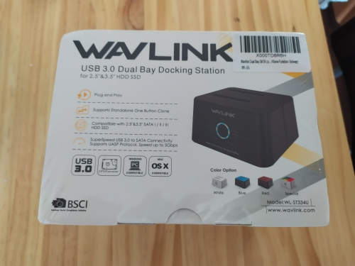 Wavlink Dual Bay SATA to USB3.0 External Hard Drive Docking Station for 2.5/3.5inch HDD/SSD Offline Clone/Backup/UASP Functions reviews №5 38719