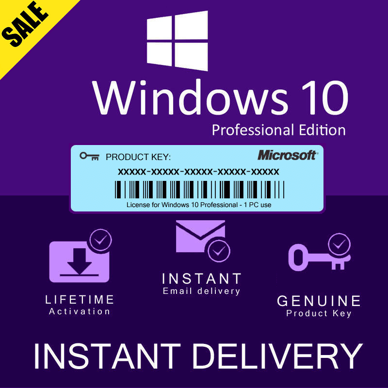 Windows 10 Pro Key Retail Lifetime 32/64 Bit OEM Original Authentic For 1 PC Global 2020