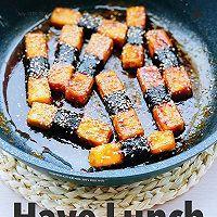 外脆里嫩的照烧豆腐比肉好吃的做法图解3