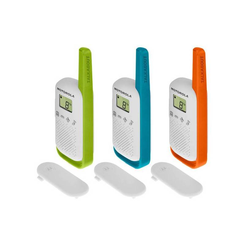 Walkie-Talkie Motorola T42 Multicolored (3 Pcs)