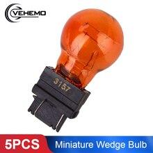 5 шт. 3157NA мини-клиновидные лампы, стоп-сигнал, сигнальный светильник, желтый