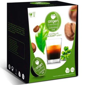 COLOMBIA 100%, 16 capsules Origin sensation compatible Dolce Gusto