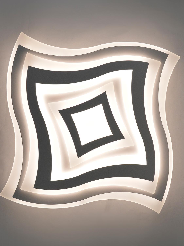 Estares / Управляемый потолочный светодиодный светильник люстра с пультом Geometria Quarto 80w Люстры    АлиЭкспресс