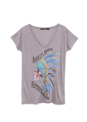CUPID KILLER COLLECTION rosebud Camiseta de Color Morada con Manga Corta para Mujer CK000133-2