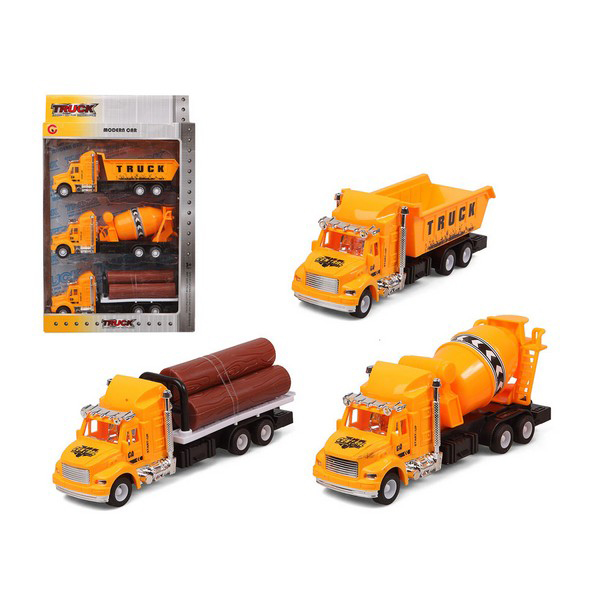 Set Of Cars Truck Public Works Yellow 119305 (3 Uds)
