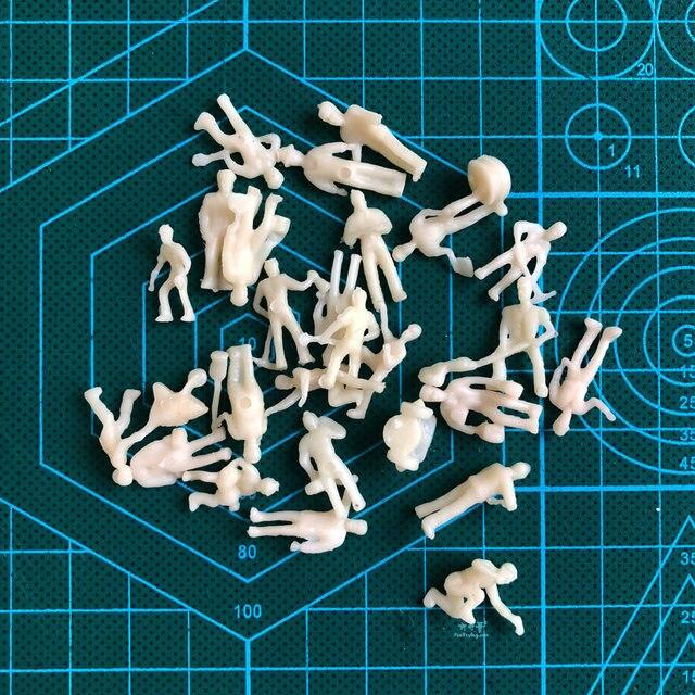 27PCS 187 HO Skala Modell eisenbahn Arbeiter landschaft modell zug eisenbahn layout landschaft DIY miniatur dioramen display gaming