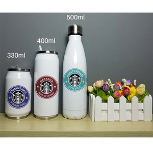 Image 3 - Cool Design Stainless Steel Thermos Insulated Stainless Steel Vacuum Bottle Custom Name Printing Gift