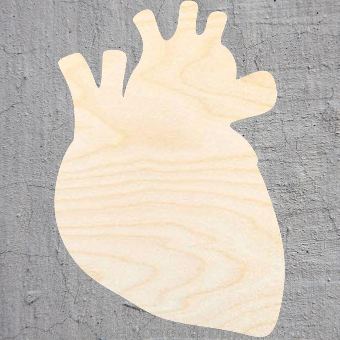 Laser Cut Out Unfinished Wood Shape Craft Supply REL6 Heart Cross