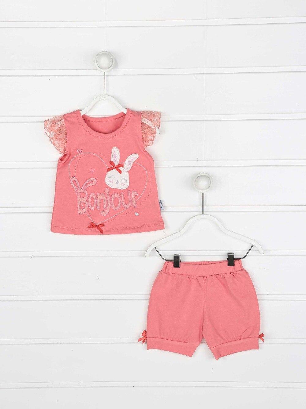 082-2222-003 Narçiçeği  Kız Bebek Şortlu Takım (1)