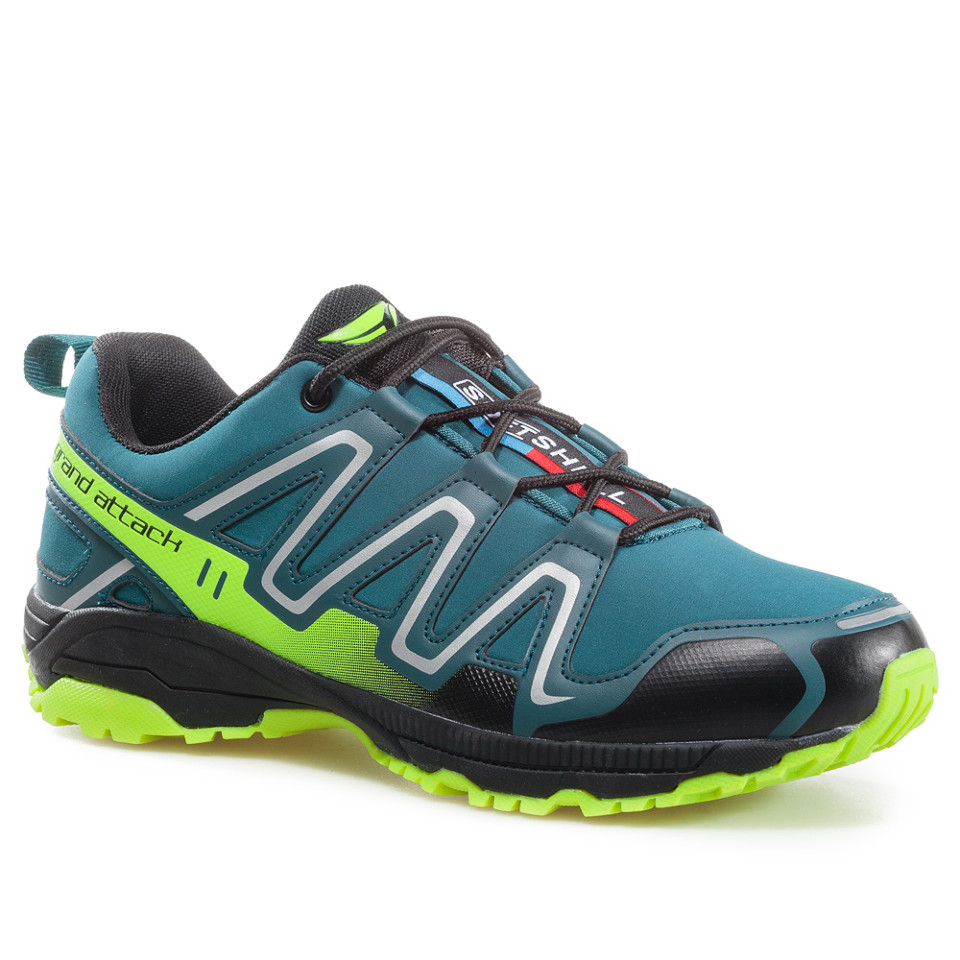 Outdoor Men's Lace Up Shoes Soft Shell Comfortable Lightweight Shoes Trainers Hiking Trecking Backpacking