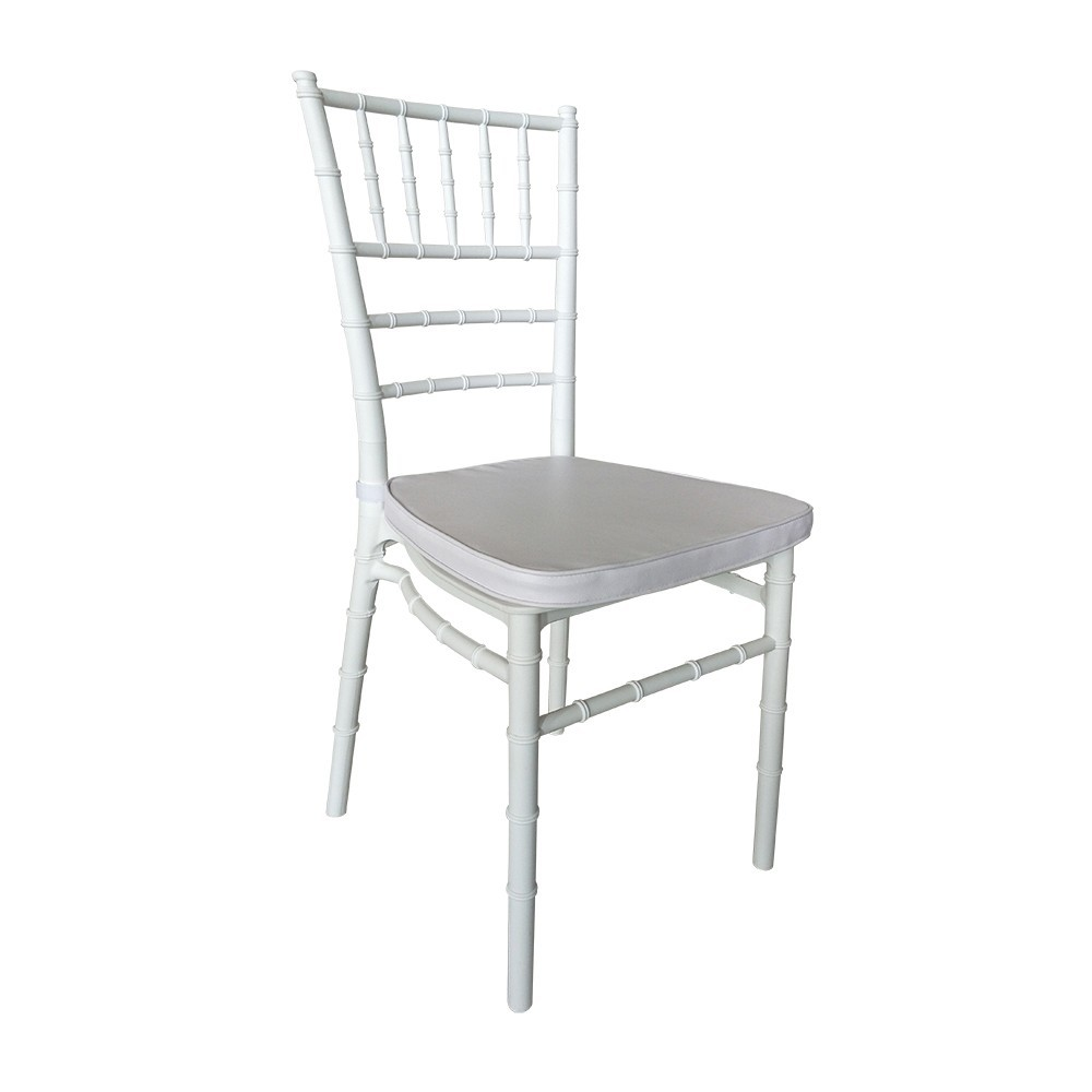 CHIAVARI Chair, Polypropylene White, White Cushion
