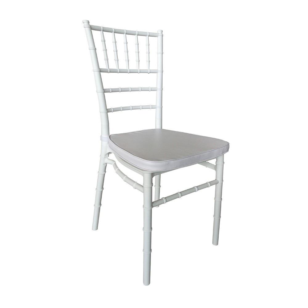 CHIAVARI Chair, Polypropylene White, White Cushion