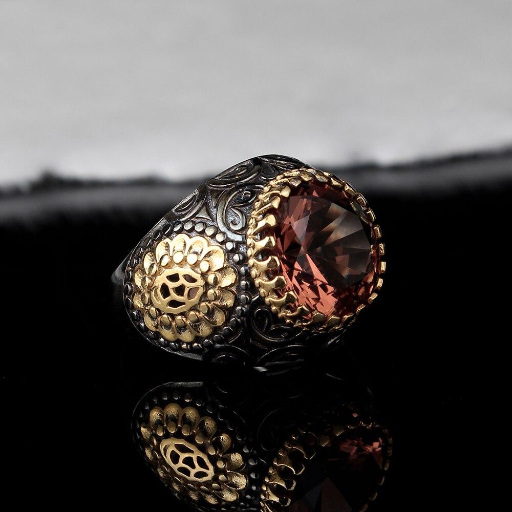 Мужское серебряное кольцо из зултанита ручной работы, мужское серебряное кольцо из 925 пробы, кольцо из зултанита, серебряное круглое кольцо