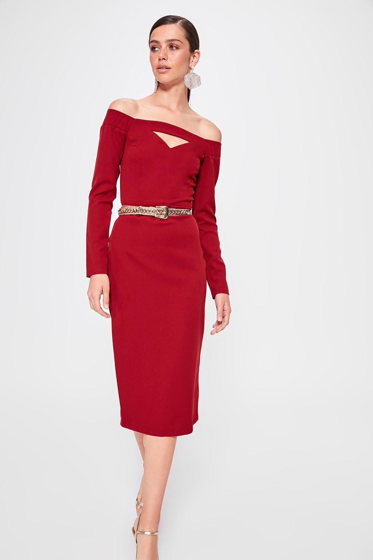 Trendyol Carmen Collar Dress TPRAW20EL1203