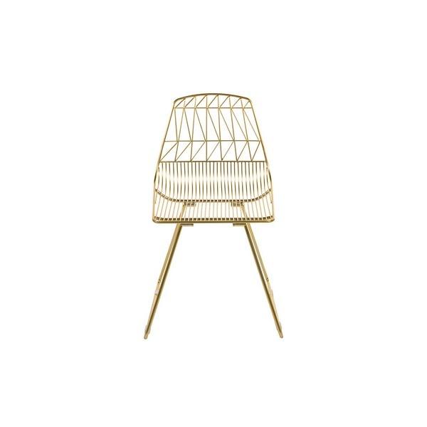 Yemek sandalyesi metalik zikzak (46x78x57 cm) title=