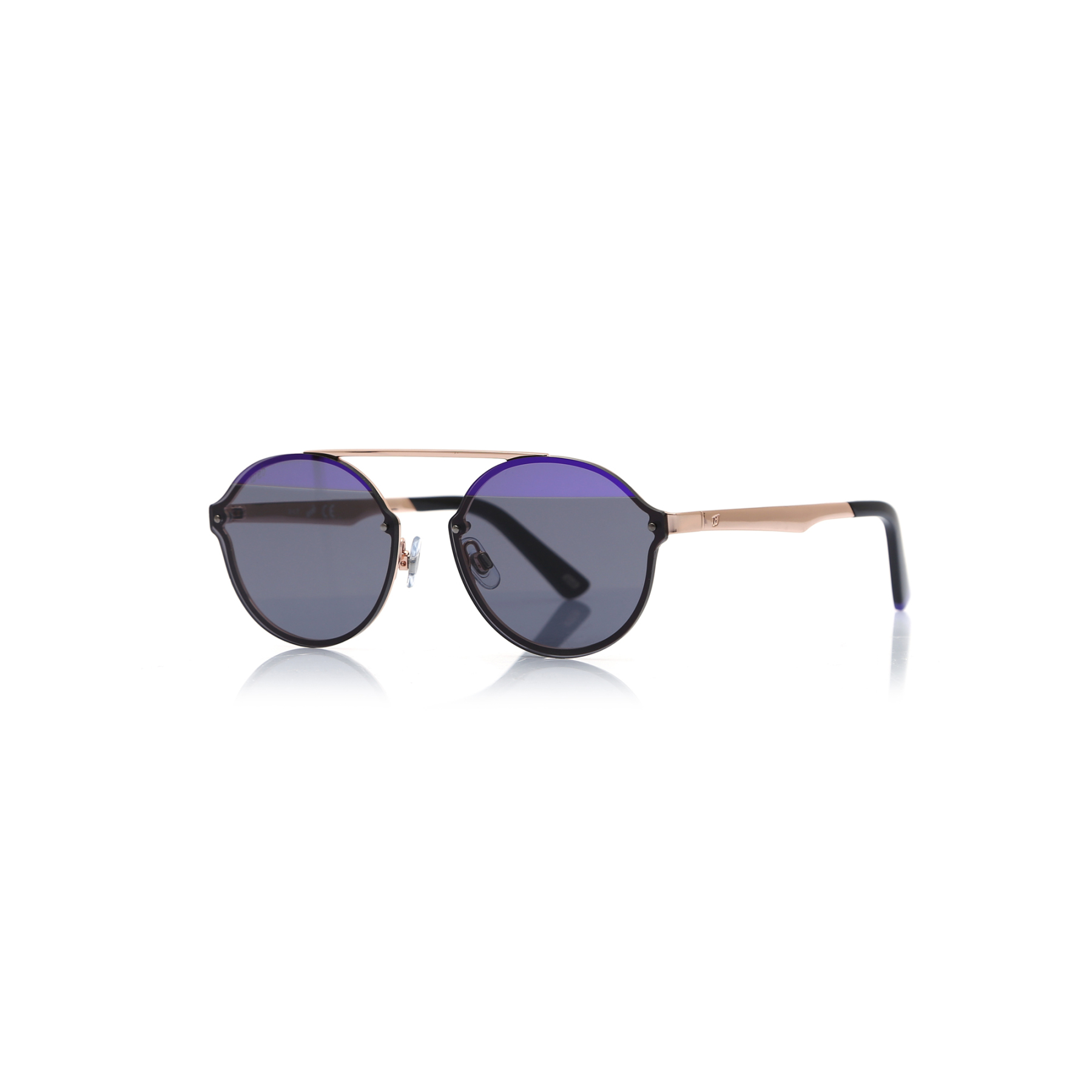 Unisex sunglasses w 0181 34z metal gold organic oval aval 58-15-140 web
