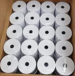 100 rollos térmicos 57x55mm para impresora de tickets TPV. Envío incluido del papel térmico para impresoras de 58mm