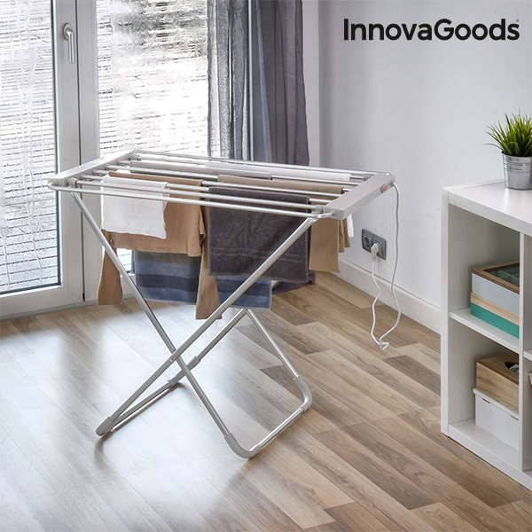 InnovaGoods Electric Drying Rack 100W Grey (6 Bars) Electric Irons     - title=