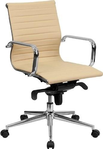 Office Armchair ALABAMA, Rotatable, Similpiel Beige