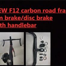 Alta qualidade f12 carbono estrada da bicicleta conjunto de quadros 1k superfície todo o cabo interno 700c quadro carbono bicicleta estrada 2 anos garantia