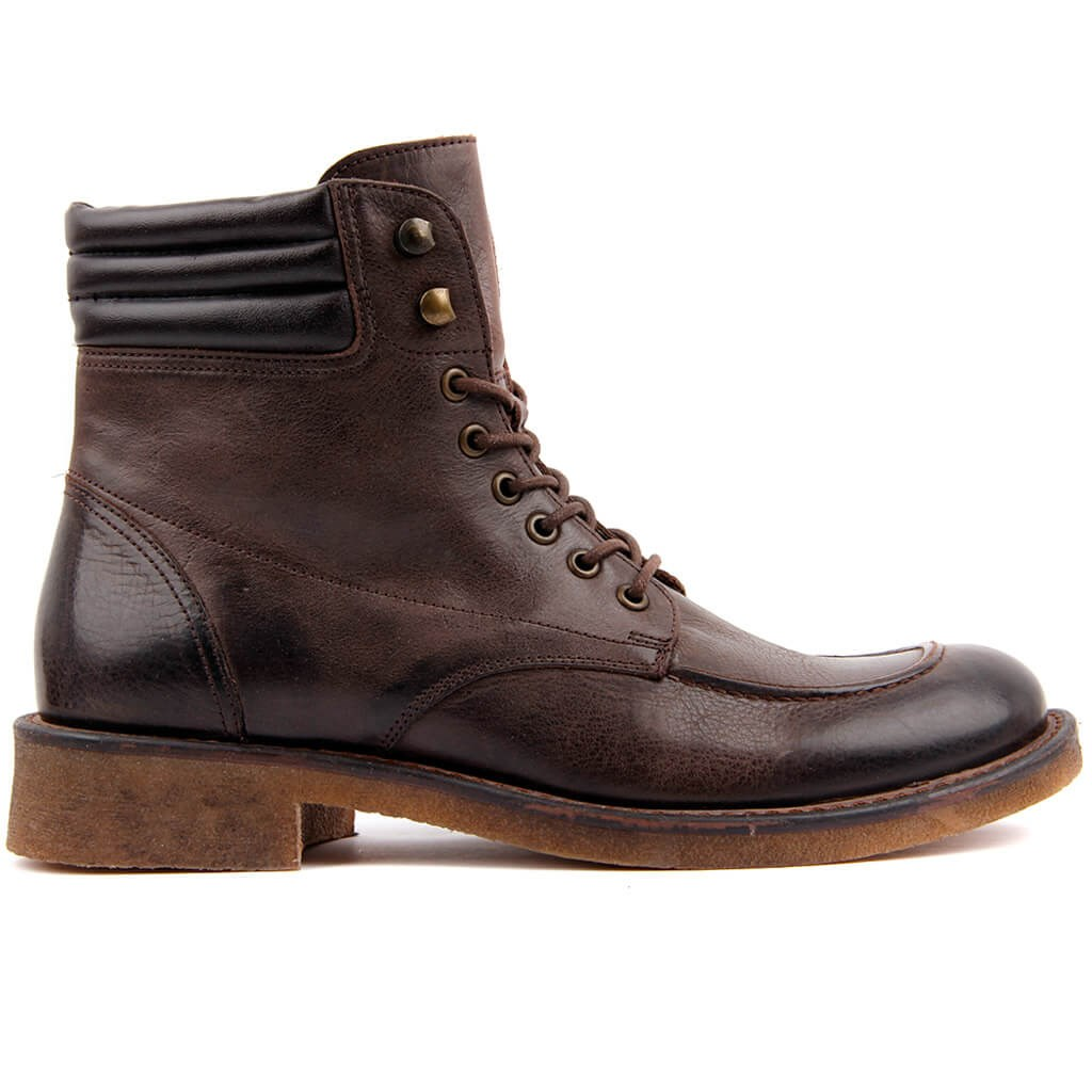 Sail Lakers-Brown Leather Men 'S Boots