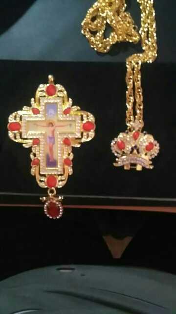 Высокое качество, крестины, ортодоксальные Иисуса подвески-кресты, стразы, цепь, Религиозные ювелирные изделия, молитва пастора