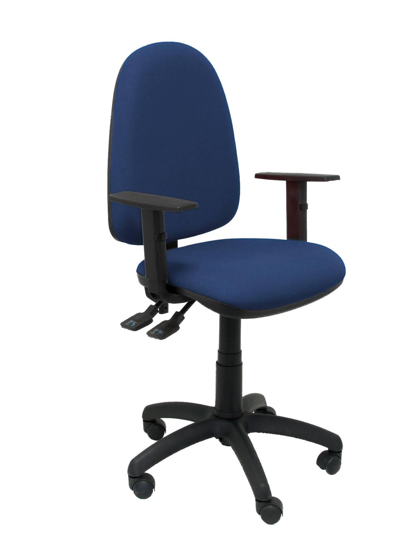 כיסא של משרד עם קשר קבוע של בית מנגנון כפול ידית וdimmable בגובה רב-עד מושב בלימת כדור tapizad