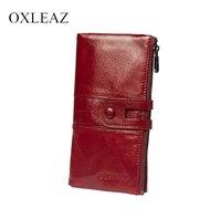 Женский кошелек из натуральной кожи с застежкой OXLEAZ OX2072