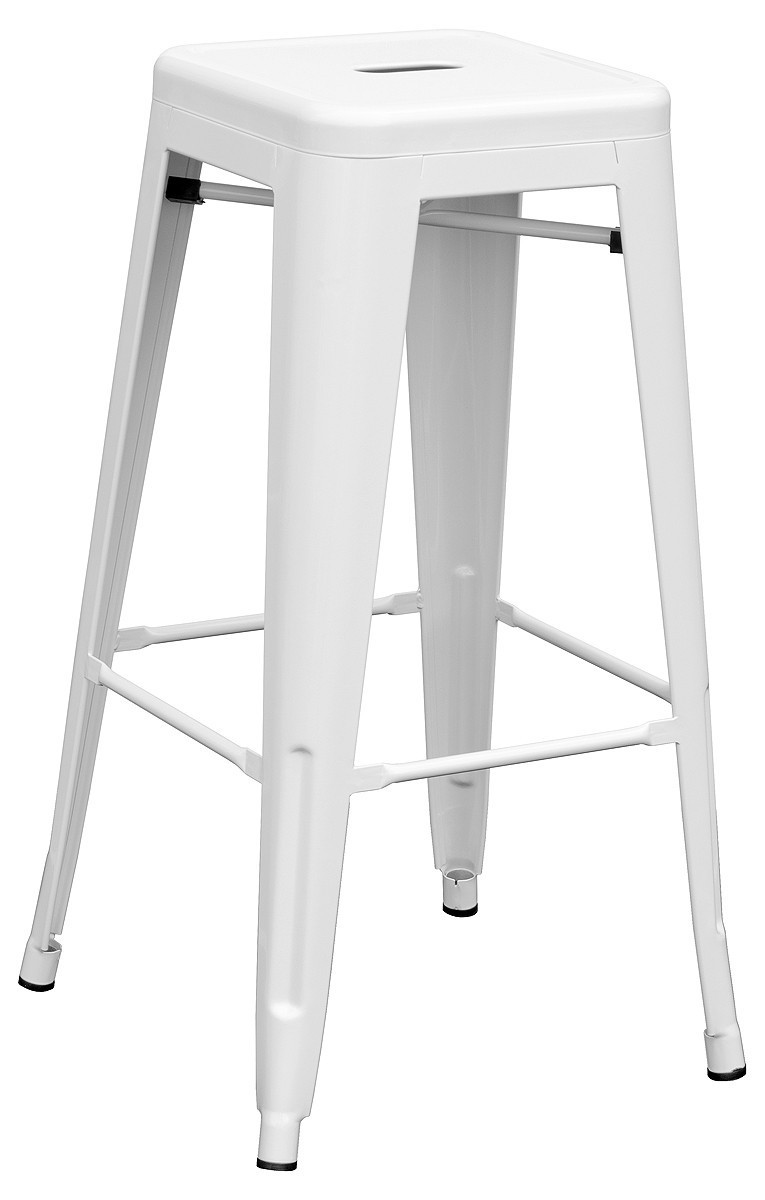 Stool TOL, White Steel