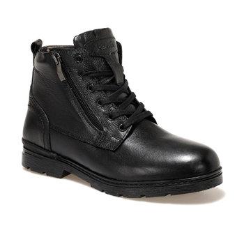 FLO HEIMDAL czarne męskie buty w stylu Casual KINETIX tanie i dobre opinie Podstawowe Sztuczna skóra ANKLE