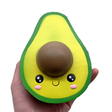 Kawaii Avocado Diy Antistress Squishy Slow Rebound Toys Simulated Fruit Series Slow Rising Stress Relief Funny Toy for Adults цена и фото