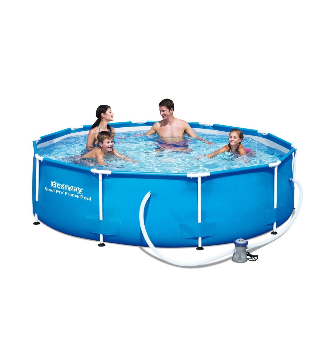 Scaffold Round Swimming Pool Summer Outdoor 305x100 Cm, 6148 L, Bestway Steel Pro, With Filter, Item No. 12475/56334