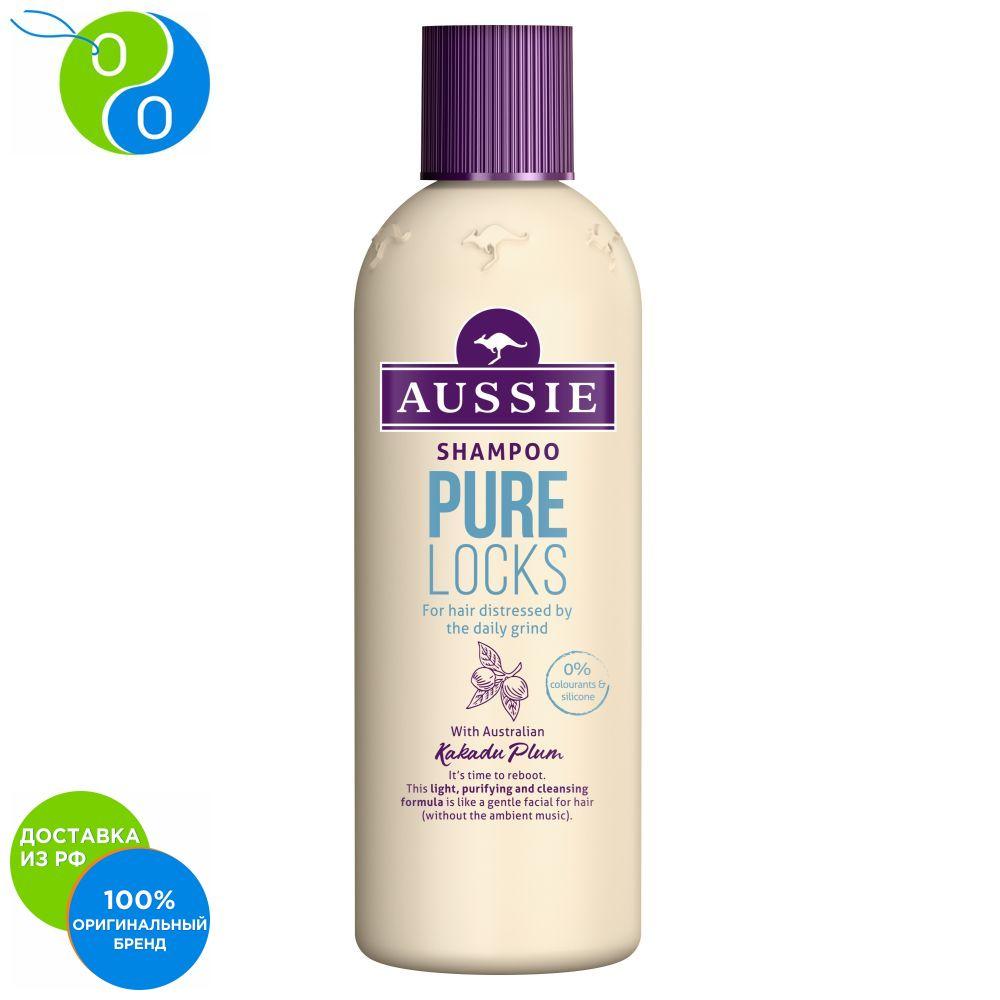 Shampoo Aussie Pure Locks for hair suffering from daily laying 300ml,shampoo, shampoo, aussie, hair shampoo, aussie, aussie shampoo, pure locks, 300 mL, shampoo without dyes, shampoo without silicone, Australia, ausie rw0347 defroster for locks 30 ml