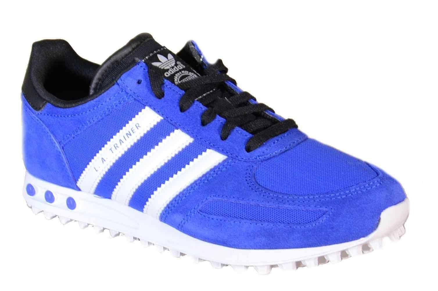 martes Búsqueda explique  ADIDAS LA Trainer K Sport Shoes Blue Leather Canvas B25694|Walking Shoes| -  AliExpress