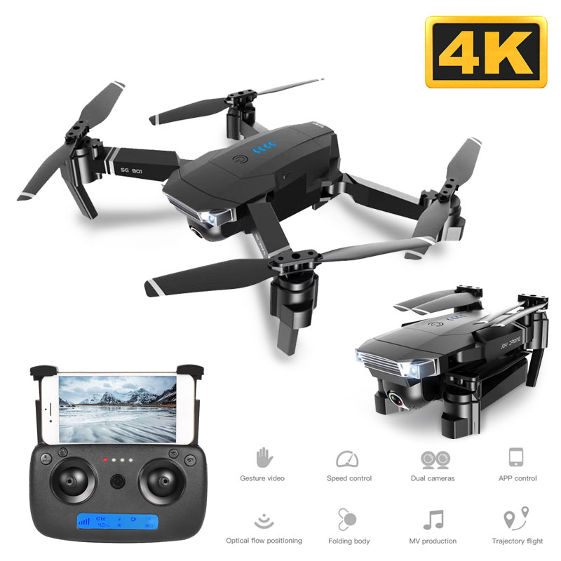 SG901 4K Full HD Dual Camera RC Drone Optical Flow Positioning Follow Me Professional Long Battery Life Quadcopter FPV WIFI
