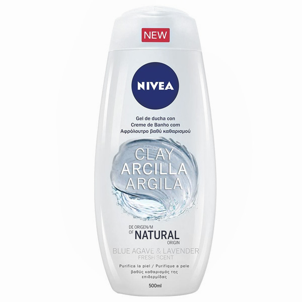 Shower Gel Arcilla Blue Agave & Lavender Nivea (500 Ml)