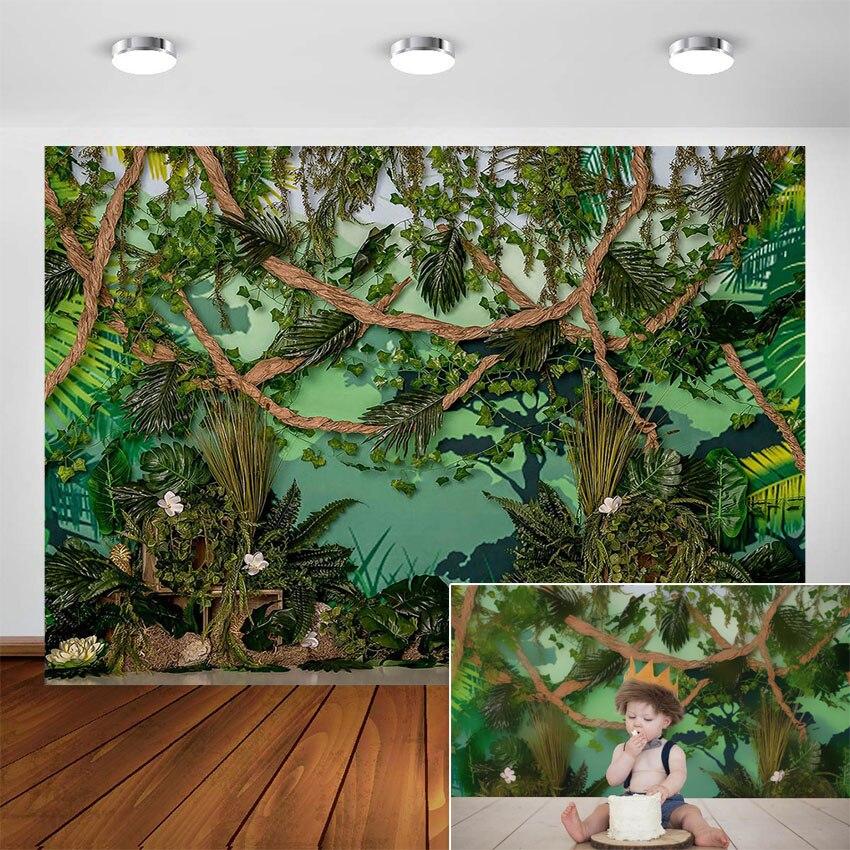 Selvagem uma selva safari fotografia pano de fundo do bebê festa decoração selva floresta animais fundo para estúdio fotográfico
