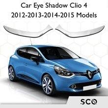 Sourcil chromé léger pour Renault Clio 4, accessoire extérieur, 2 pièces en acier inoxydable, modèles 2012 – 2015